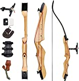 """SinoArt 68"""" Takedown Recurve Bow Adult Archery Competition Athletic Bow Weights 18 20 22 24 26 28 30 32 34 36 LB Right and Left Hand Archery Kit for Outdoor Training Shooting (28 LBs, Left Hand)"""