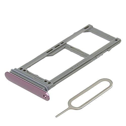 MMOBIEL Vassio Supporto per Carta SIM/Scheda SD Compatibile con Samsung Galaxy S9 G960 / S9 Plus G965 (Purple) incl Sim Pin