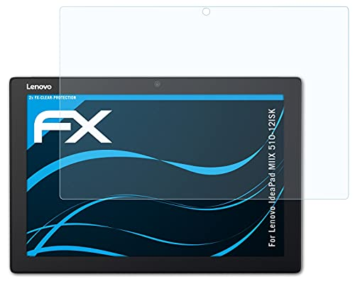 atFolix Schutzfolie kompatibel mit Lenovo IdeaPad MIIX 510-12ISK Folie, ultraklare FX Bildschirmschutzfolie (2X)