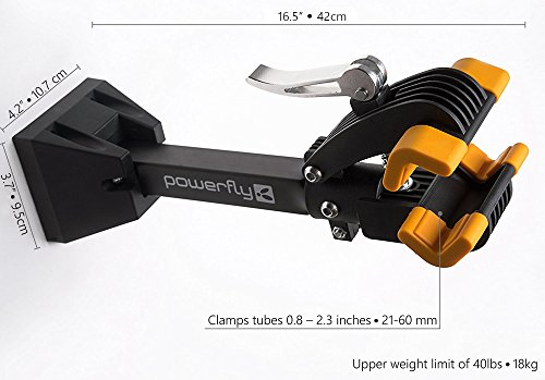 Powerfly Fahrrad Montageständer Fahrradständer zur Wandmontage – Fahrradmontageständer Reparaturständer Reparatur-Wandhalter Ständer - 5