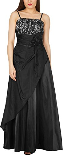 BlackButterfly 'Belle' Satin Bliss Ballkleid (Schwarz, EUR 36 - XS)