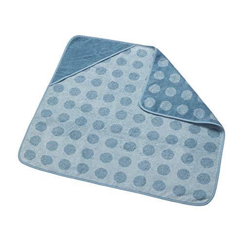 Leander Hoodie Organic Serviette de bain en tissu éponge doux Bleu