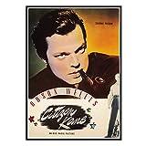 DuanWu Película clásica Citizen Kane Vintage Posters Arte de la Pared Pintura en Lienzo Sala de Estar Decoración para el hogar Impresión en Lienzo -50x70 cm Sin Marco 1 Uds