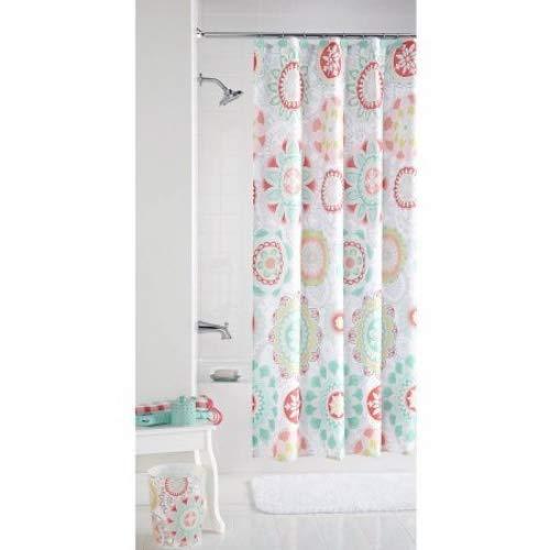 Mainstays Groovy Medallion Shower Curtain
