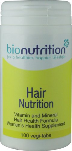 Bio Nutrition Hair Nutrition : One-A-Day : Hair, skin and nails multivitamin and mineral : 100 vegi-tabs