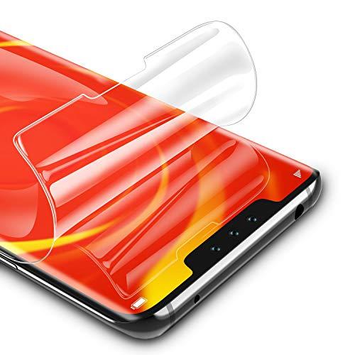 RIWNNI [3 Pezzi Pellicola Protettiva per Huawei Mate 30 PRO, Ultra Sottile Morbido TPU Pellicola Copertura Completa Protezione Schermo Senza Bolle per Huawei Mate 30 PRO - Trasparente