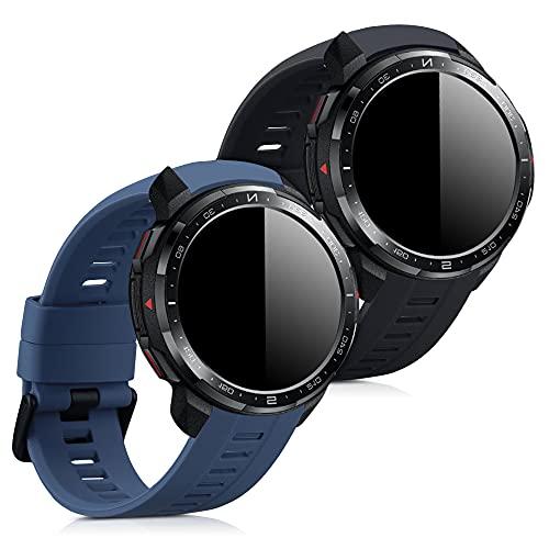 kwmobile Cinturino in Silicone Compatibile con Honor Watch GS PRO - 2X Fascetta Fitness Tracker con Fibbia ca. 14-22 cm