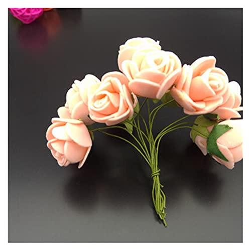 YGUIYONG Flores Artificiales Barato Mini Rosa Flor Artificial Flor de Espuma DIY...
