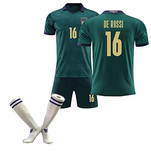 CBVB Kinderfußballuniform, Marchisio Immobile Bonuccl Pirlo, Trikot der Europameisterschaft 2020 Italien (auswärts), Grün-16#-26