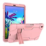 Cherrry for LG G Pad 5 10.1 Inch Tablet Case,Heavy-Duty Drop-Proof and Shock-Resistant Hybrid case(with Built-in Stand), for LG G Pad 5 10.1 inch FHD Tablet 2019 (Rose Gold)