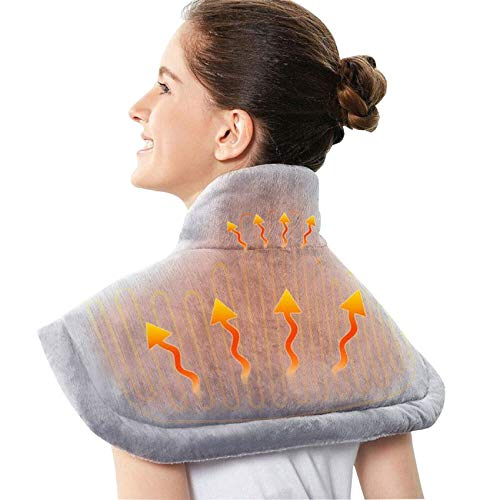 Elektrisch Wärmekissen,Wärmekissen für die Schulter,Heizkissen für Rücken Nacken und Schultern,waschbar heizdecke rücken,Schulterheizkissen,Geeignet zum Entspannen der Schultern. (57cm *43cm *2cm)