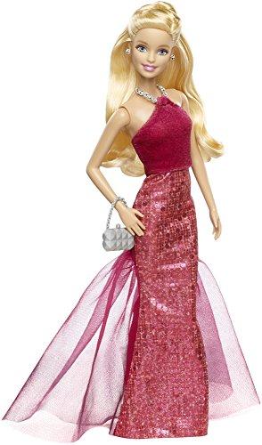 Barbie - Muñeca con Vestido de Gala, Color Rojo (Mattel CHH05)
