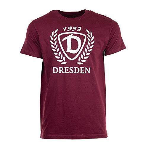 SG Dynamo Dresden T-Shirt D-Kranz weinrot, Größe:M