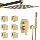 AYIVG Bathroom Square 12 Inch Rainfall Shower Faucet System With...