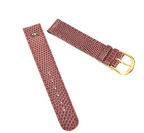 Technos - Cinturino per orologio da polso in vera pelle, 17 mm, colore: Marrone