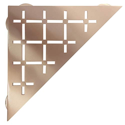FROSCH Stainless Steel Shower Shelf, Corner - Triangle (Brushed Copper Finish)
