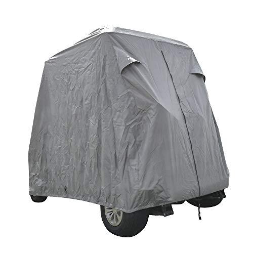 Summates Golf Cart Cover, Fits Yamaha Drive, EZ Go,Club Car Precedent,Color Tan, Gray (Light Gray, Fit 2-Person)