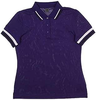 New Womens G/Fore Tipped Pique Golf Polo Medium M Wisteria Purple G4LF18K30