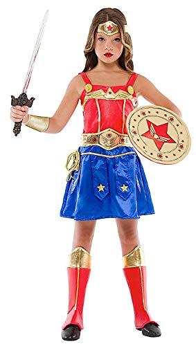 VENEZIANO Costume Carnevale da Ragazza GUERRIERA Vestito per Ragazza Bambina 7-10 Anni Travestimento Halloween Cosplay Festa Party 52388 M