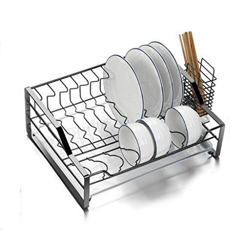 OH Recipiente para Cubiertos de una Sola Capa Tendedero Plato con Escurridor, Acero Inoxidable Estante para Platos Escurridor de Cocina utensilios de cocina