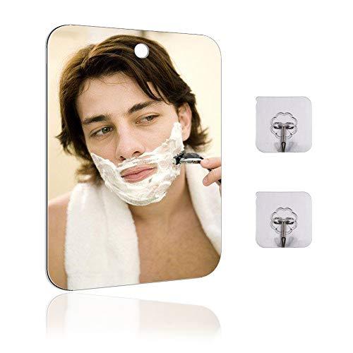 Fogless Mirror for Shower Fogless Shower Mirror for Shaving Large Fogless Shower Mirror 11X748 inch with 2 Adhesive Hooks Lightweight Frameless Men Mirror for Shaving