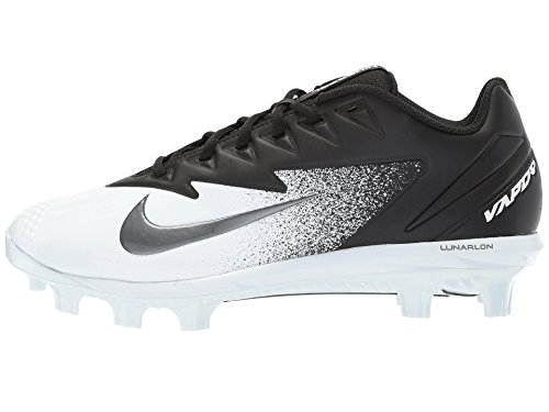 Nike Men's Vapor Ultrafly Pro MCS Baseball Cleat (8 D(M) US, Black/White/Metallic Silver)