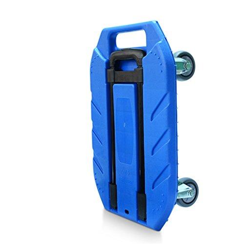 Carro de compras Camión plegable del coche de la mano del carro Poco tire de la rueda del coche Tire del camión Carga del carro gigante Remolque portátil del equipaje al aire libre (Color : B)