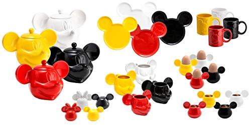 Joy Toy Mickey Mouse Piatto in Ceramica A Forma di Topolino Giallo