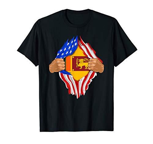 Sri Lankan Blood Inside Me T-Shirt   Sri Lanka Flag Gift