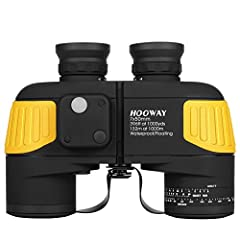 PERFECT FOR MARINE - Marine binoculars with 7x magnification and 50mm objective lens;22 mm eye relief,6.8mm exit pupil,and field of view is 396 feet at 1000 yards / 132 meters at 1000 meters. ADAPT TO EXTREME ENVIRONMENT - Completly waterproof and fl...