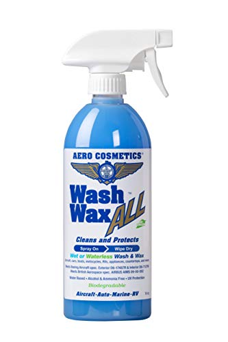 Wet or Waterless Car Wash Wax 16 oz. Aircraft Quality Wash Wax for your Car RV & Boat. Guaranteed Best Waterless Wash on the Market