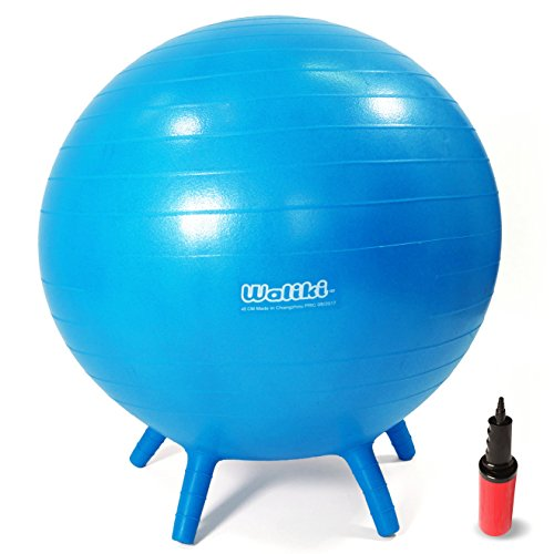 WALIKI Chair Ball with Feet for Kids | Alternative Classroom Seating | Balance Ball | 20'/50CM Blue