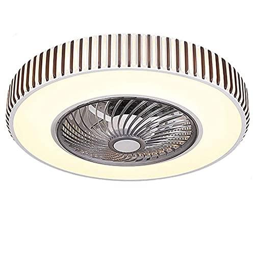 TRPYA Ventilador de Techo LED con Luces, luz de Techo Ligero de Dormitorio Luz de Ventilador de Techo, Control Remoto Instalación incrustada Regulable Araña Cerrada (Size : B)