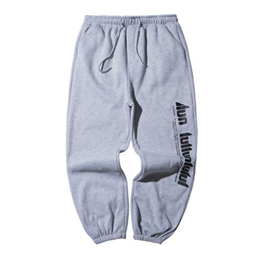 Irypulse Unisex Verdicken Hosen Sporthose Joggerhose Letter Print Baggy Pants Casual Trendige Trousers für Männer Frauen Jugend Herbst Winter