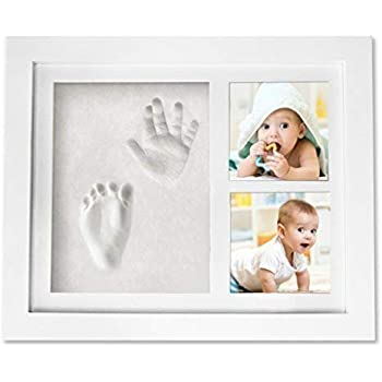 Baby Shower Gifts Baby Clay Handprint Footprint Kit Picture Frame 13x11 inches Newborn Baby Keepsake Frames Perfect for Baby Boy Gifts,Top Baby Girl Gifts