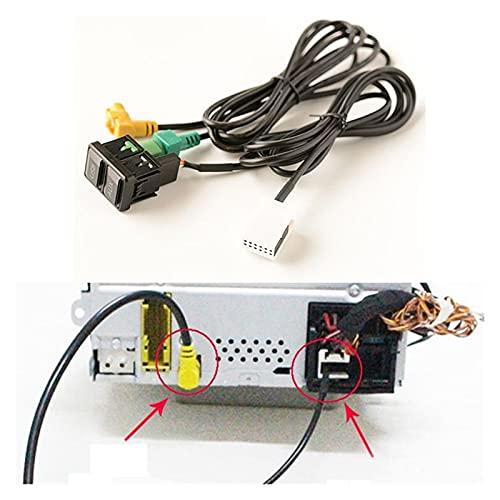 Development Coche Auxiliar Interruptor del Adaptador de Audio del Cable RCD510 RNS315 Ajuste para-Passat B6 B7 Golf 5 Mk5 Golf 6 Mk6 Jetta 5 mk5
