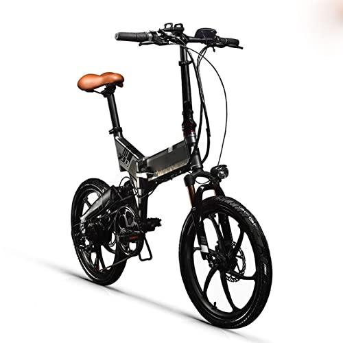 Liu Yu·casa creativa Bicicletas eléctricas for Adultos Plegables 25 0w 48v 8 AH Hidden Battery Dobling Bicicleta eléctrica 7 Velocidad Bicicleta eléctrica (Color : Black-Gray)