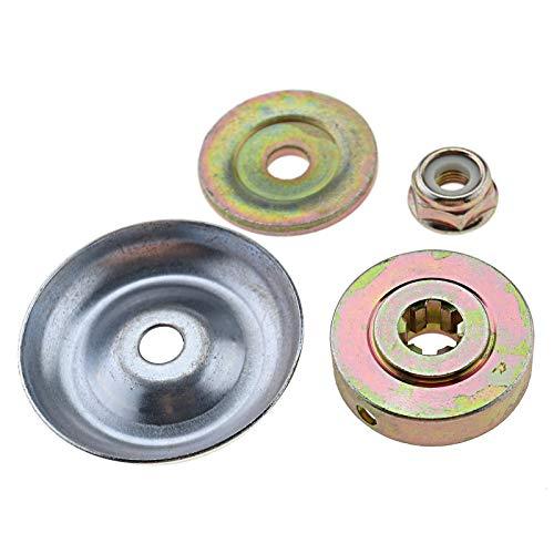 Create Idear - Juego de 4 herramientas de fijación para cortacésped universal para placa de metal con tuerca M10