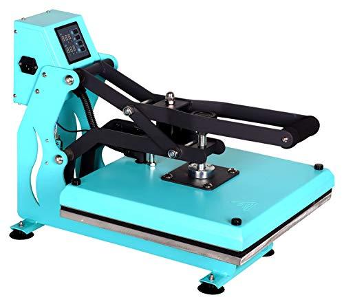 RICOO T438M-TB Transferpresse mit Öffnungsautmatik Textilpresse Textildruckpresse Klappbar Thermopresse Transferdruck Bügelpresse Textil T-Shirtpresse Sublimationspresse/Türkis-Blau - 4