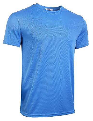Sykooria Herren T-Shirt Basic Sportshirt Herren Laufshirt Kurzarm Schnelltrocknend Atmungsaktiv Rundhalsausschnitt für Fitness