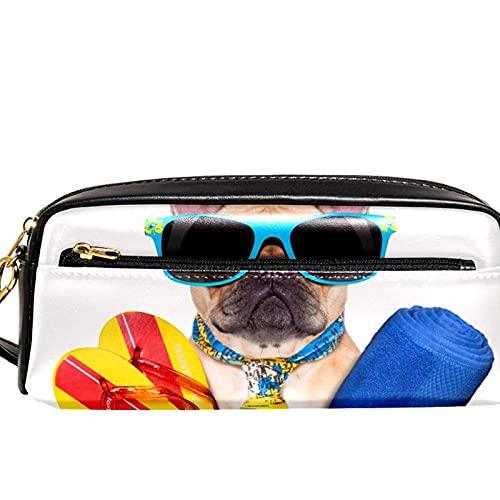 Estuche para lápices Marcador Bolígrafo Bolsa Organizador de escritorio chanclas de perro Bolsa de almacenamiento