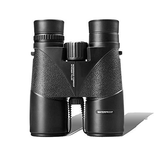 Binoculares para adultos, telescopio alta potencia, binoculares 8/10X42, teléfono móvil para niños a prueba agua, con poca luz, lleno nitrógeno, adecuado para hacer turismo y ver la caza conciertos