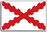 Cross Of Burgundy Flag (150-1785), Historic Flags of Spain fridge magnet - Calamita da frigo