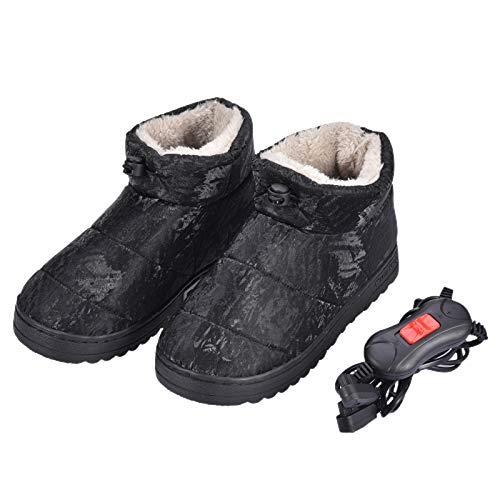 Fußwärmer, USB-Elektroheizschuhe rutschfeste Fußwärmer mit USB-Kabel Weiche, beheizte Hausschuhe mit intelligenter Temperaturregelung für Frauen, Mädchen, beheizbare Schuhe