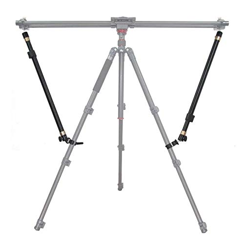 MULIOCEAN Camera Slider Support Arm(2 Arms in), Tripod Stability Arm/Rods for Increasing Stability in Aluminum Alloy, Extendable Poles for Camera Slider Rail Track with C Clamps and Ballhead