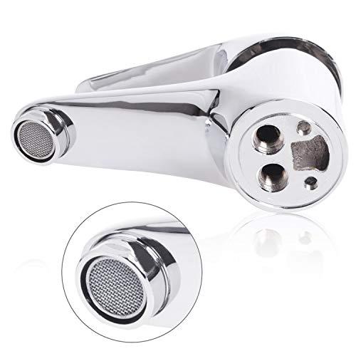 Wasserhahn Einhebel Armatur Waschtischarmatur Waschbeckenarmatur Waschtisch Mischbatterie für Bad Chrom - 6