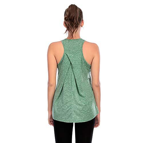 HOSD Chaleco de Fitness Nuevo Chaleco de Yoga Deportivo Collar de Cuello Irregular Cruzado sin Mangas Ropa de Fitness