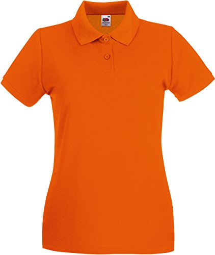 Fruit of the Loom Premium Polo Lady-Fit, Naranja (Orange 410), S para Mujer