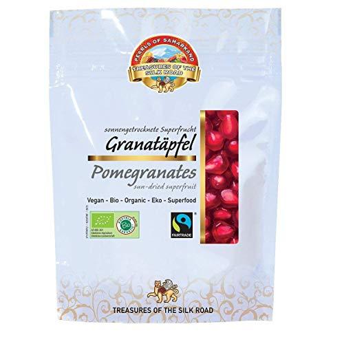Arilles de grenade BIO 7x100 gr graines de granade séchées aux soleil, sans sucre ajouté pas lyophilisé, biologiques, crues Max Havelaar Fairtrade commerce équitable 700 gr organic dried pomegranates