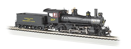 Bachmann Industries Baldwin 52' Driver 4-6-0 DCC Ready Locomotive - MARYLAND & PENNSYLVANIA #27 - (1:87 HO Scale)